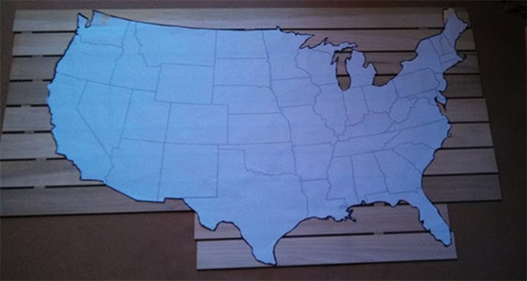 DIY: Wooden Wall Map