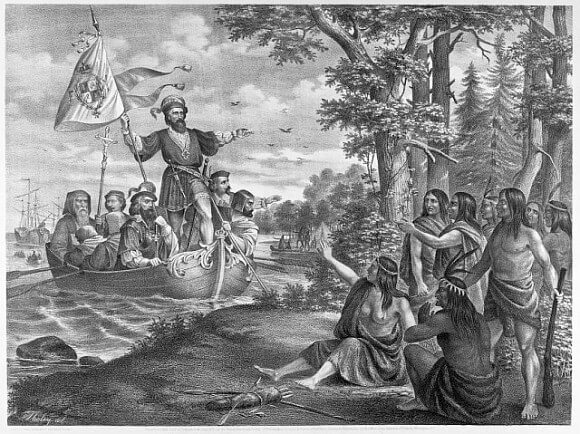 Columbus at San Salvador